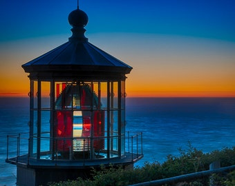 Lighthouse Photo Ocean Photography Sunset Photography Blue Orange Pink Red Bold Colors  oth37