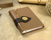 Brown Leather Journal, Vintage Style Journal, Notebook, Diary - The Black Spade