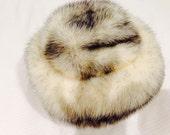 Blizzard sale!! Vintage Irene of New York fur hat from 1960's, silver fox vintage hat, fur ladies hat