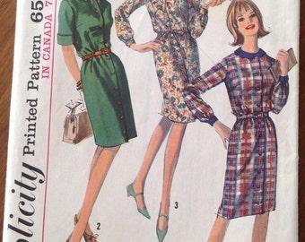 Vintage Simplicity 6079 Shirt-waist Dress