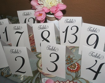 Table Numbers, Rustic Table Number, Wedding Table Numbers, Table Decor, Folded Table Numbers, Wedding Seating Chart, Table number, Tents