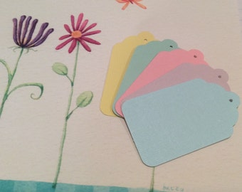 12 Pastel Gift Tags
