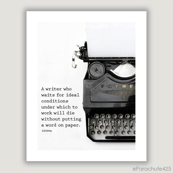 E.B. White Quote Writing