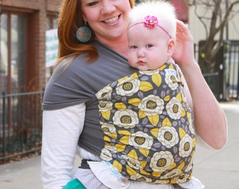 Stretchy Wrap Baby Carrier Baby Sling   - Anna- Instructional DVD Included - Supportive Carrier for Babies 8-35 lbs - Custom Fit Every Time