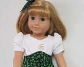 "A Shamrock Dress for St. Patrick's Day for Nellie O'Malley or any 18"" Doll With A Similar Body"