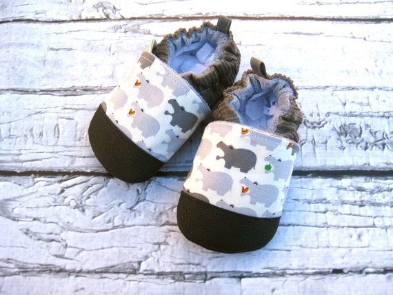classic vegan hippo in charcoal non slip soft sole shoes