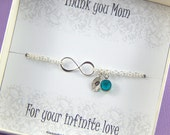 Mother of the Bride Infinity Birthstone Bracelet,Gift Boxed Jewelry,Personalized Birthstone Infinity Bracelet,Gift Boxed Bracelet For Mother