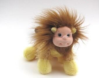 Manticore soft sculpture, lion, man, scorpion altered stuffed mutant animal