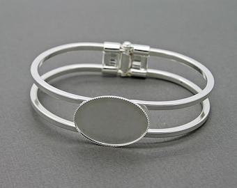 Sale! Oval Cuff Bracelet 25x18 Setting Area