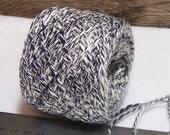 City Scape Combo Yarn, Cotton Blend, Black, Navy & Off White Slub Yarn, Crochet or Knit, YOMD. Bin 13