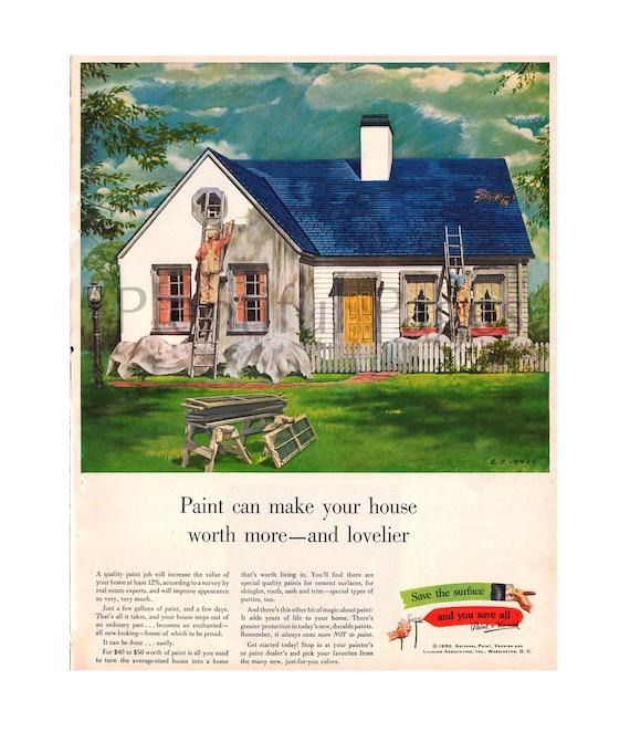 1950 Paint Amp Varnish Vintage Ad 1950 S Home Color