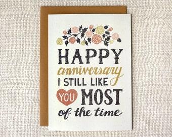 Funny Anniversary Card - I Still Like You