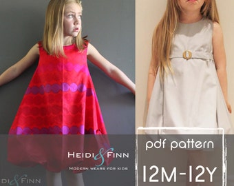 Bubble Dress Pattern and tutorial 12m-12Y DIY pdf pattern EASY Sew