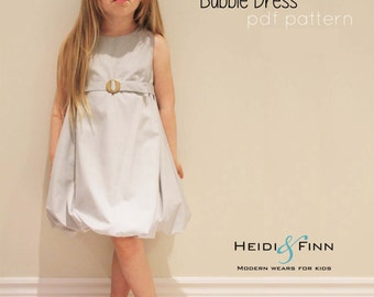 Bubble Dress Pattern and tutorial 12m-5T DIY pdf pattern EASY Sew