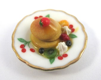 Dollhouse Miniature Food Pancakes in 12th Scale