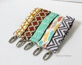 Key Chain / Key Fob - Swivel Clasp Key Wristlet - Choose Your Fabric