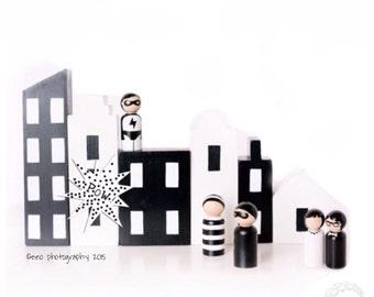 the black & white collection: monochrome city petite set