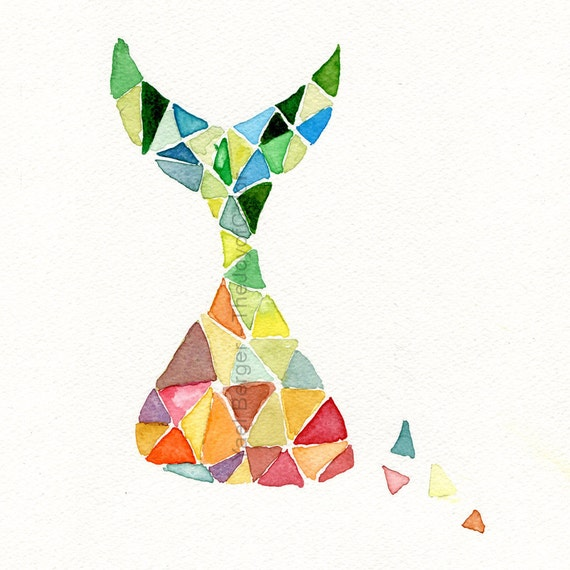 Art print/ Time is Running/ abstract geometric art/ colorful, Modern print/ contemporary art/ triangles/ modern art/ dorm decor/