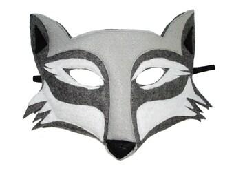 Children's Woodland Animal WOLF Felt Mask