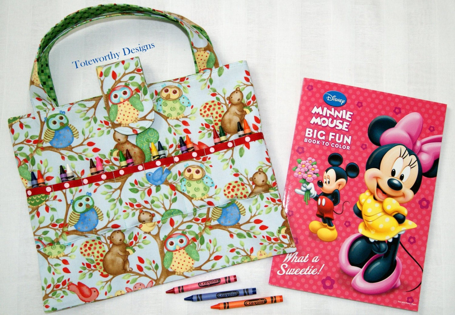 Clearance 35 discount coloring book and crayon tote for Clearance craft supplies sale