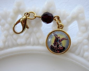 Saint Michael the Archangel Rosary Place Marker/Clip