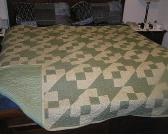 "King size ""Railroad Crossings"" quilt"