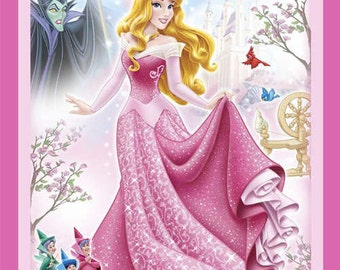 Disneys  Sleeping Beauty Quilt Panel Cotton Fabric  Springs Creative Fabrics