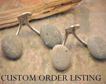 Custom Orders - Contact Before Ordering - Double Hook with Beach Rocks