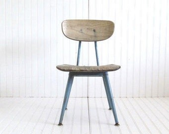 Vintage Little Blue School Chair