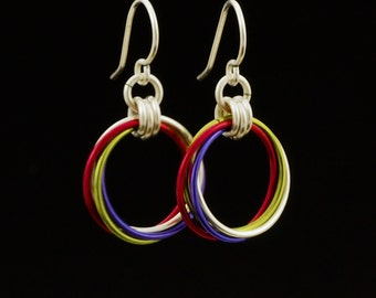 Large Loops Earrings - Ready Made or Kit - You Pick Colors