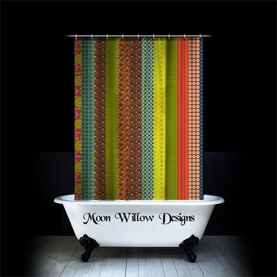 fabric shower curtain hippie boho bohemian by