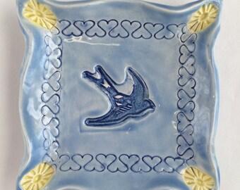 Blue Bird Trinket Dish