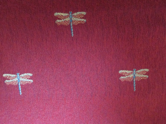 Dragonfly Upholstery Weight Fabric 2 Yards 56 Inches