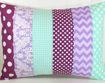 Pillow Cover, Nursery Cushion Cover, Baby Girl Nursery Decor, Pillow Cover, 12 x 16 Inches,Lavender, Purple, Plum, Grape,Mint Green, Seafoam