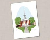 Loyal Hearts Will Cherish Ever — Dunning Memorial Chapel 5x7 print