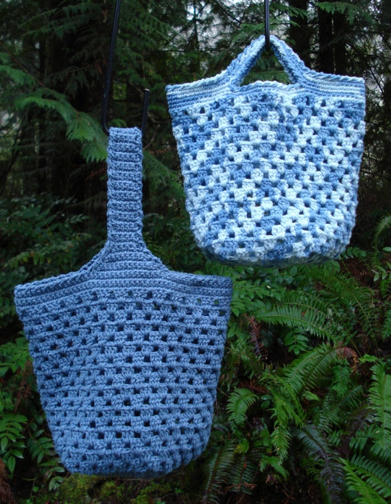 Crochet Small Tote Bag Pattern : Crochet Pattern PDF Small Tote Bags PA-127