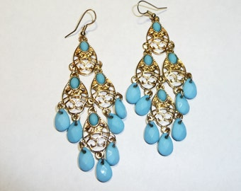 Gypsy BoHo Chandelier Earrings on Etsy