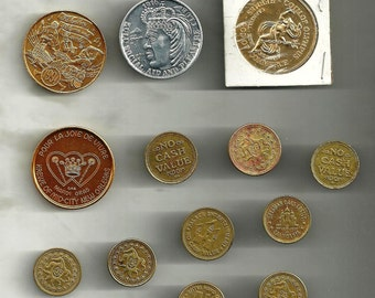 Vintage Lot of 13 Mardi Gras / New Orleans Coins / Tokens