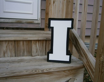 Metal Wall Letter - I - Industrial Salvage - Reclaimed Vintage - Advertising - Channel Letter