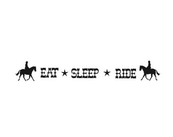 Horse decal, horse quote wall sticker, wall words decal, western wall decor, rodeo quote, girls room, teen room, childs room, 7 X 40 inches
