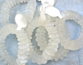 White AB Glass Beads 60% off, qty 75