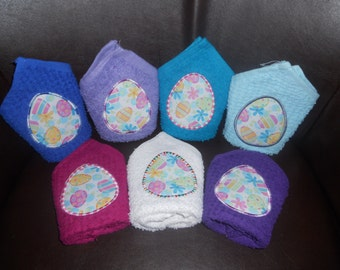 TODAY'S SPECIAL - Easter Egg  Appliqued Washcloth