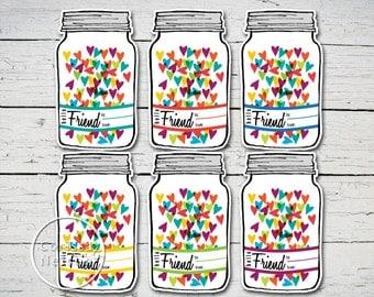 Mason Jar Valentine - Instant Printable