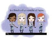 Be a friend to all  and miracles will happen. Art print - Catholic
