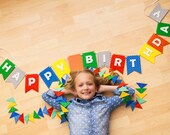 Happy Birthday Banner Bunting Laser Cut Felt 56 inches wide
