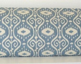 Pillow Cover - Bali Yacht Ikat print - Cushion Cover - Blue ikat