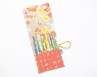 Mini Crochet Hook Case - Sweet as Honey - crochet hook organizer crochet hook holder