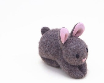 Bunny Rabbit, all natural toy, waldorf rabbit, toy stuffed bunny, small stuffed toy, rabbit plushie
