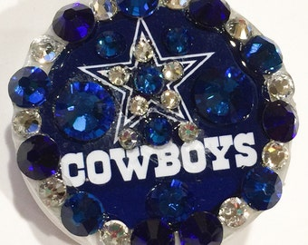 Dallas Cowboys Swarovski Crystal Embellished ID Badge Reel