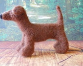 Needle Felted Pipe Cleaner Pet Dachsund